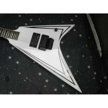 Custom Shop ESP White Stripe Black Guitar