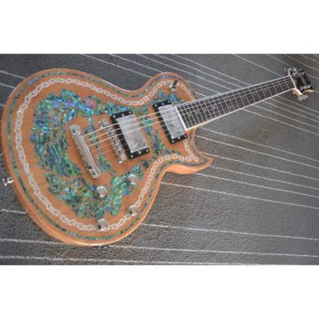 Custom Shop Flower Real Abalone Electric Guitar