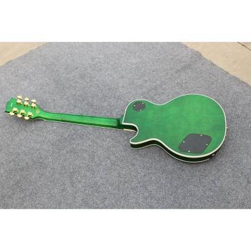 Custom Shop Flame Maple Top Green Yellow Electric Guitar
