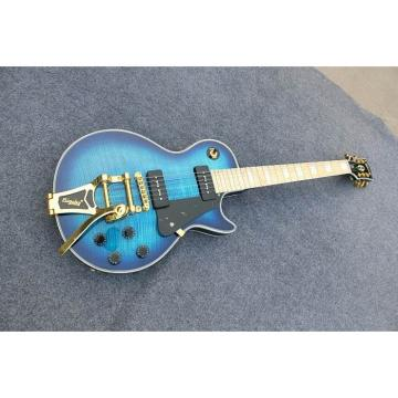 Custom Shop Flame Maple Top Electric Guitar With Authorized Bigsby Tremolo