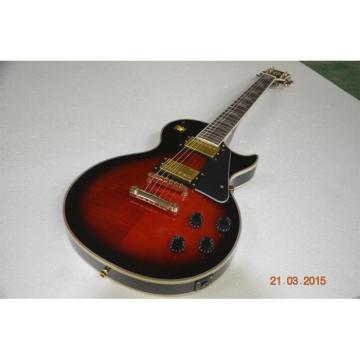 Custom Shop Flame Maple Top Red LP Custom Electric Guitar