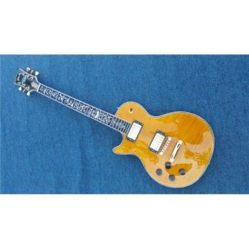 Custom Shop Flame Maple Top LP Supreme Electric Guitar Left Handed