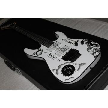 Custom Shop ESP White Kirk Hammett Ouija Electric Guitar