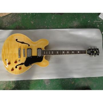 Custom Shop ES335 Yellow Electric Guitar