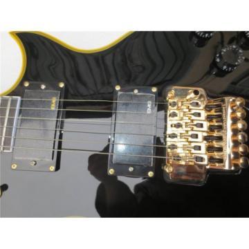 Custom Shop Eclipse ESP Black Electric Guitar With Tremolo