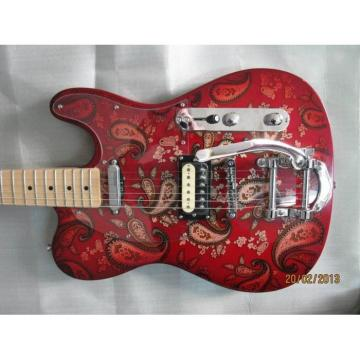 Custom Shop Cherry Red 1969 Reissue Paisley Telecaster Electric Guitar Floral