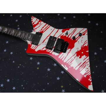 Custom Shop Dan Jacobs LTD ESP Blood Spatter Electric Guitar