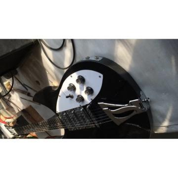 Custom Shop Black Rickenbacker 6 Strings 325 Electric Guitar