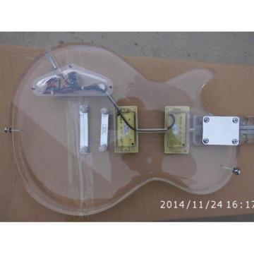 Custom Shop Acrylic LP Plexiglass Transparent Body and Neck Electric Guitar