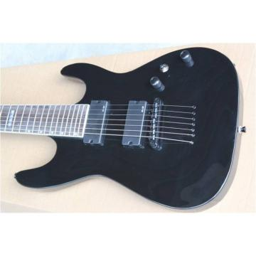 Custom Shop 7 Strings ESP MH417 Black Electric Guitar with Authorized EMG Pickups