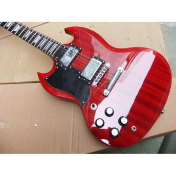 Custom Shop 12 String SG Angus Young Red Electric Guitar Left Handed