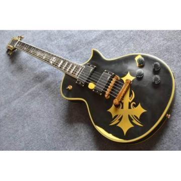 Custom Made ESP Iron Cross Black Electric guitar