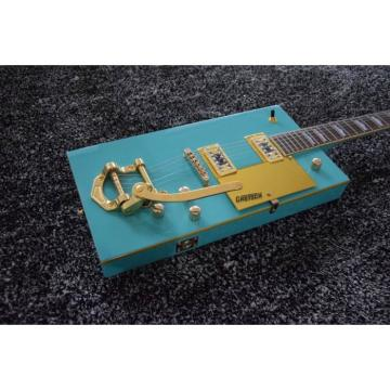 Custom Built Blue Gretsch G5810 Bo Diddley Electric Guitar Cigarette Box