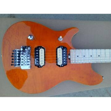 Custom Amber Color Quilted Maple Top EVH Wolfgang Electric Guitar Left Handed