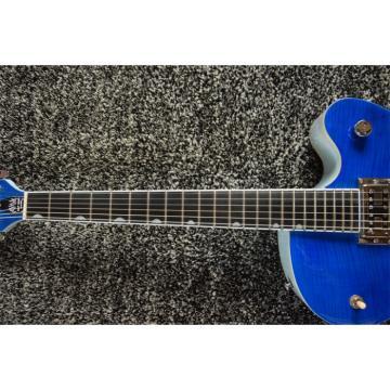 Custom 6120 Blue Tiger Maple Top Gretsch 6 String Electric Guitar