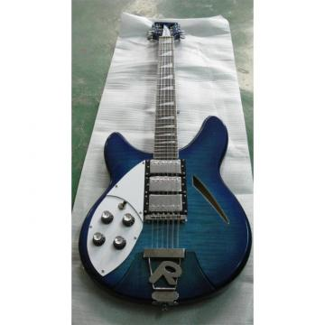 Custom 12 Strings Rickenbacker 360 Blue Flame Maple Top Guitar