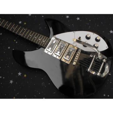 Custom 3 Pickups Rickenbacker 330 Black Guitar