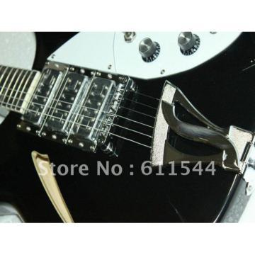 Black Rickenbacker 6 Strings 381 3 Pickups Guitar