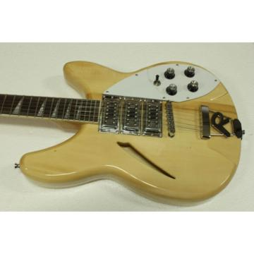 12 Strings Rickenbacker 330 Natural 3 Pickups Guitar