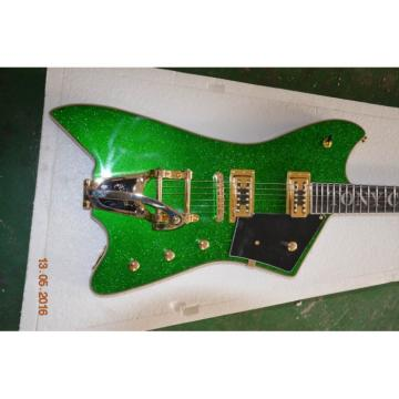 Project Guitar Gold Hardware Metallic Cadillac Green Gretsch G6199 Billy-Bo Jupiter Guitar Custom TONY CHICKENBONE