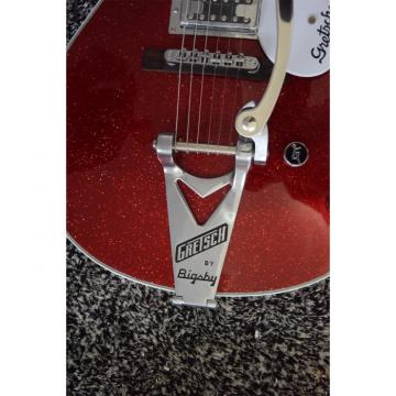 Custom Sparkle Burgundy Guitar with Authorized Gretsch Bigsby Tremolo and Knobs