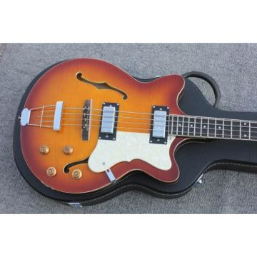 Custom Hofner Tobacco Color Fhole Jazz Electric Guitar
