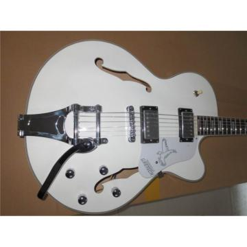 Custom Shop Double Fhole Gretsch Falcon Snow White Guitar