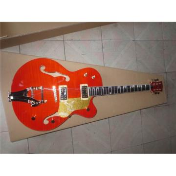 Custom Shop 6120 Gretsch Flame Maple Top Orange Jazz Guitar