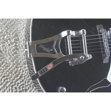 Custom Gretsch Falcon Black Silver Pickuguard Electric Guitar