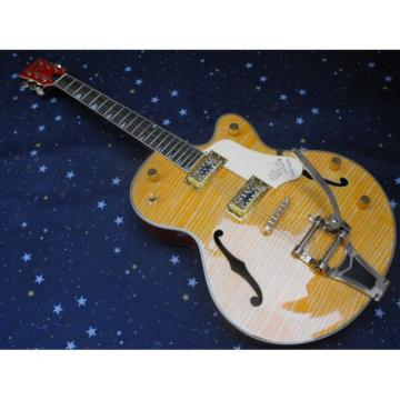 Custom G6120 Gretsch Yellow Brown Guitar