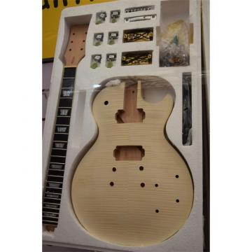 Custom Shop Unfinished guitarra Standard Flame Tiger Maple Top Guitar Kit