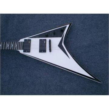 Custom Shop Jackson White Black Electric Guitar