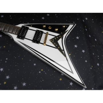 Custom Shop ESP White Black Electric Guitar