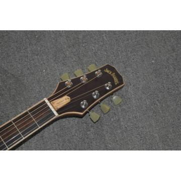 Custom Shop Jack Daniels Dark Acoustic Guitar with Fishman EQ Keystone Machine Heads