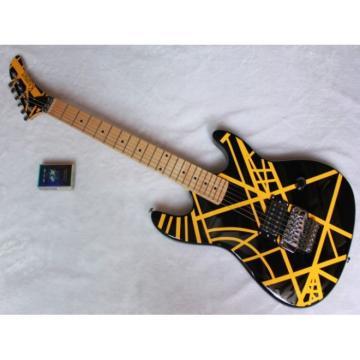 Custom Yellow EVH Black Electric Guitar
