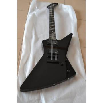 Custom Shop Explorer ESP Korina Black Electric Guitar MX250