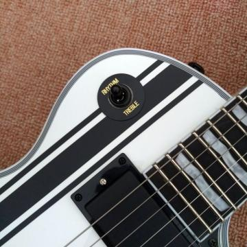 Custom Shop ESP Metallica James Hetfield Iron Cross  White w/ Stripes Graphic Guitar