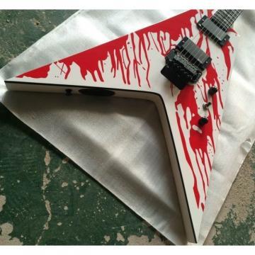 Custom Shop Dan Jacobs Flying V ESP LTD Blood Spatter Guitar