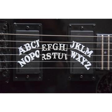 Custom KH2OUIJA Kirk Hammett Ouija Black Opera 6 String Guitar