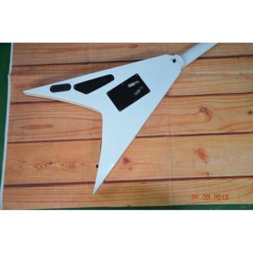Custom Built Dan Jacobs Flying V ESP LTD Blood Spatter Electric Guitar