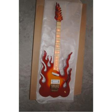 Custom  Shop Fire Flame Electric Guitar Carvings Floyd Rose Tremolo