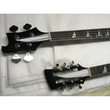 Custom Shop Bolt On Double Neck Jetglo 12 String Guitar 4 String Bass