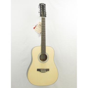 EKO LAREDO 12 String Dreadnought Acoustic Guitar in Natural Finish