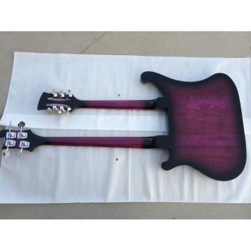 Double Neck Rickenbacker Purple 4 String Bass 12 String Guitar
