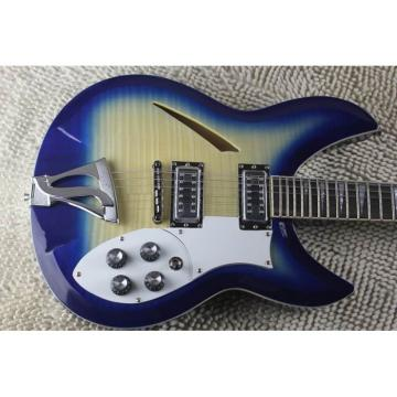 Custom Flame Maple Top  12 Strings 330 Blue White Guitar