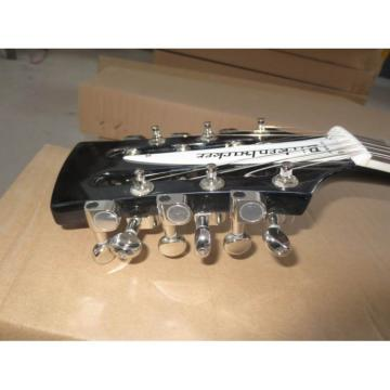 Custom 2 Pickups Rickenbacker 330 Black 12 String Guitar