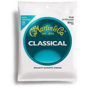 Martin M160 Silverplated Ball-End High Tension Nylon Classic Guitar Strings