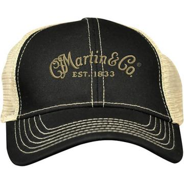 Martin Trucker Hat with Tan Mesh Black