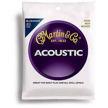 Martin M240 80/20 Bronze Bluegrass Medium Light Acoustic Guitar Strings