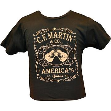 Martin Dual Guitars Vintage T-Shirt Black Medium